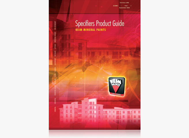 Keim Paints Specifiers brochure cover catalogue booklet
