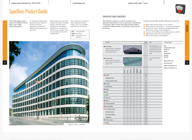 Keim Paints Specifiers brochure cover spread catalogue booklet