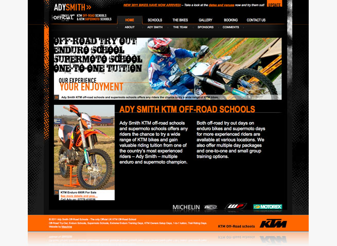 Ady Smith off-road schools ktm motorcycling