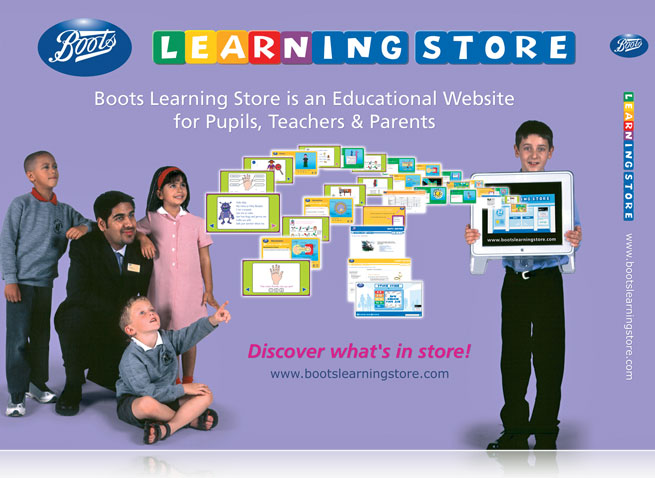Boots Learning Store pop-up display design