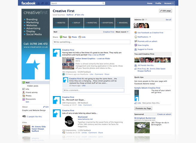 creative first creative1st facebook profile social media reputation management