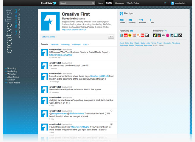 creative first creative1st twitter profile social media reputation management