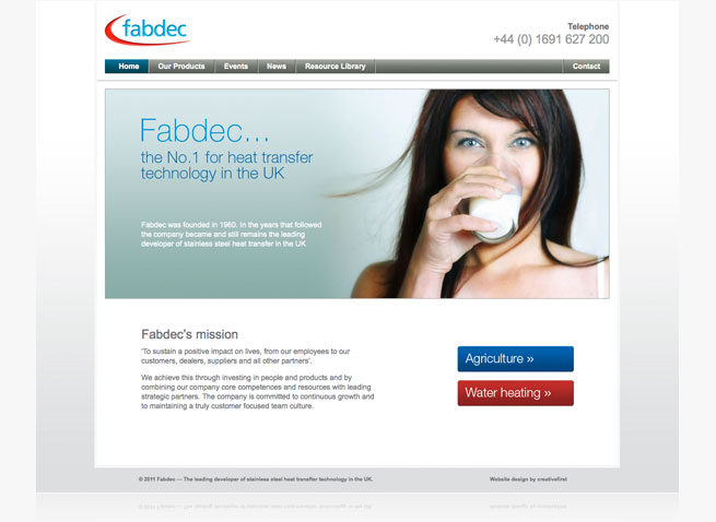 Fabdec corporate website design hosting micro sites mini sites drupal CMS