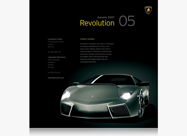 Lamborghini London Manchester newsletter automotive car magazine