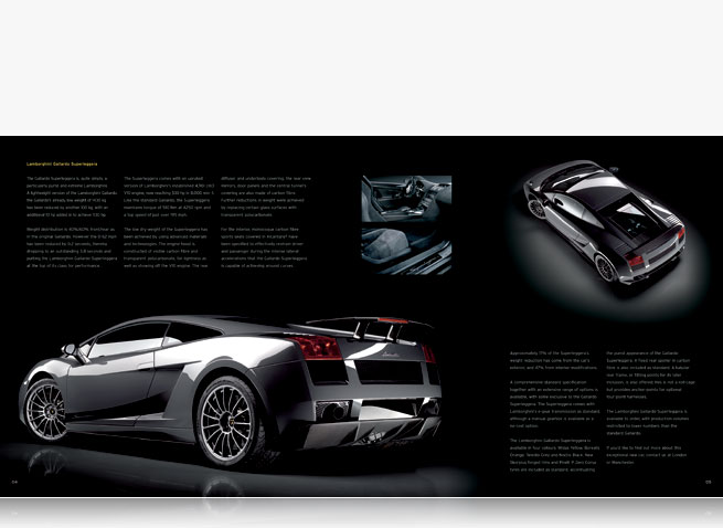 Lamborghini London Manchester newsletter automotive car magazine publishing