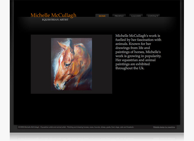 Michelle McCullagh website Equestrian artist and animal artist fine art artists