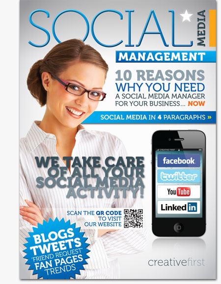 social media management brochure stafford creative first twitter facebook