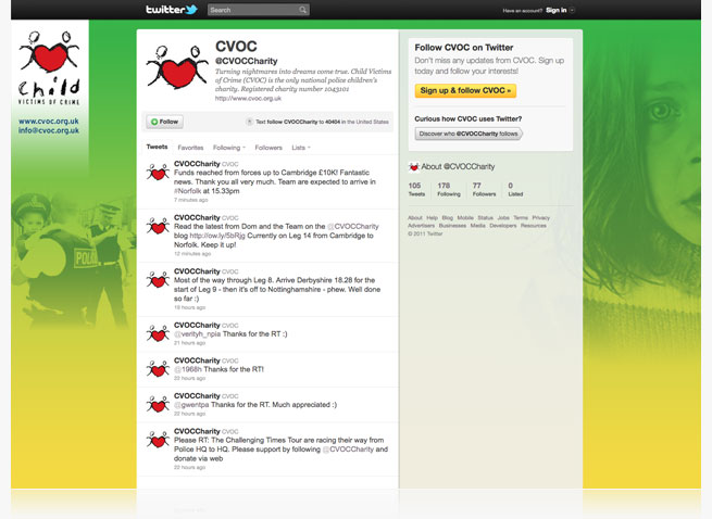 cvoc twitter page design and management